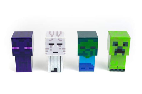 Minecraft Mini Mob 4-Piece Figure Mood Light Set | Battery Operated