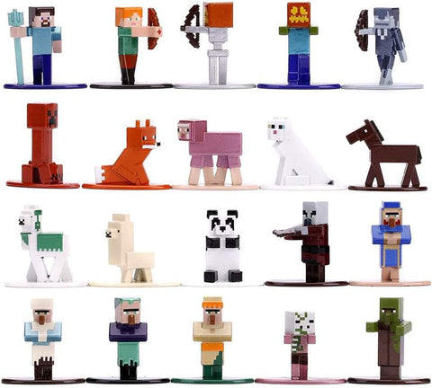 Minecraft Nano Metalfigs 20 Pack Wave 3 | 1.65 Inch Die-Cast Metal Figures