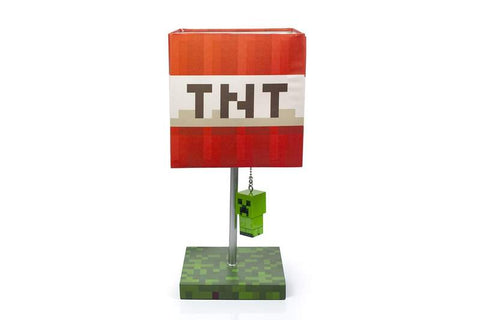 Minecraft TNT Block Desk Lamp with 3D Creeper Puller | 14-Inch LED Lamp Light