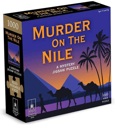 Murder On The Nile 1000 Piece Mystery Jigsaw Puzzle