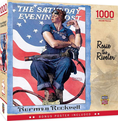 Saturday Evening Post Rosie the Riveter 1000 Piece Jigsaw Puzzle