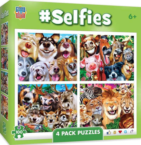 Selfies 4-Pack 100 Piece Jigsaw Puzzles