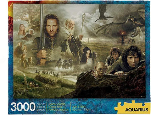 The Lord of the Rings Saga 3000 Piece Jigsaw Puzzle
