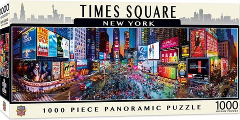 Times Square NYC 1000 Piece Panoramic Jigsaw Puzzle