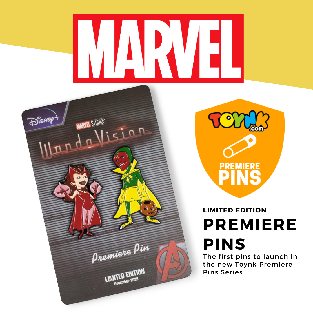 Toynk Toys WandaVision Scarlett Witch Wanda and Vision Enamel Pin Set