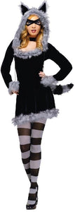 Racy Raccoon Sexy Dress Costume Adult