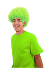 Load image into Gallery viewer, Lime Green Fuzzy Costume Wig Adult One Size