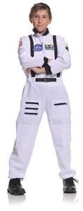 White Astronaut Jumpsuit Uniform Costume Child
