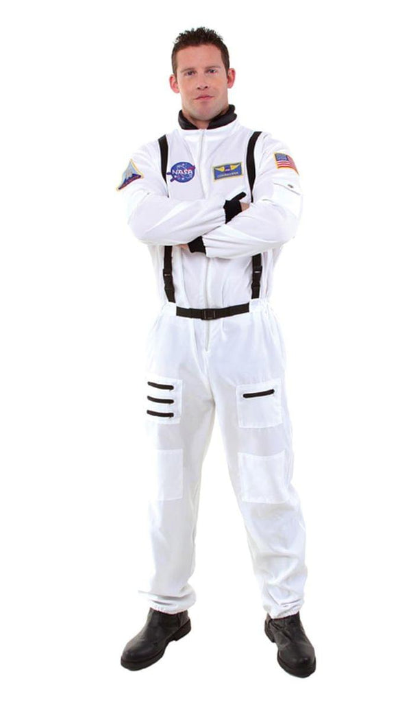 White Astronaut Uniform Jumpsuit Costume Teen