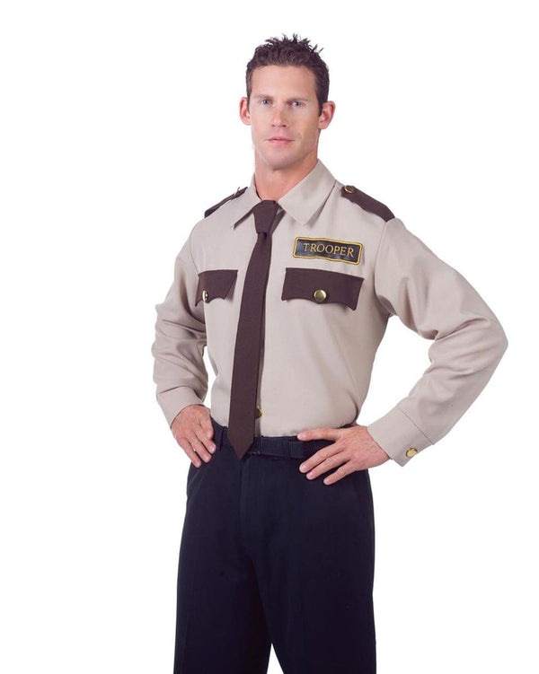 Police Trooper Costume Uniform Shirt Adult