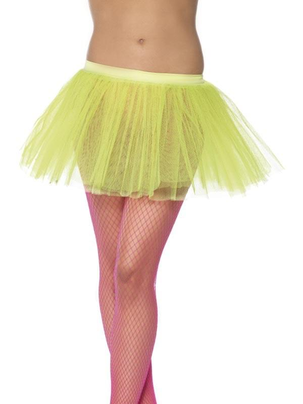 Tutu Neon Yellow Adult Costume Underskirt