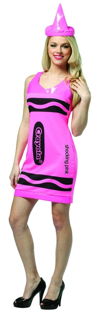 Crayola Neon Pink Tank Mini Dress Costume Adult