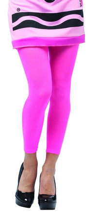 Crayola Tickle Me Pink Footless Tights Costume Accessory Adult