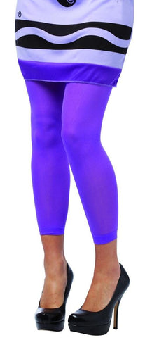 Crayola Wisteria Purple Footless Tights Costume Accessory Adult