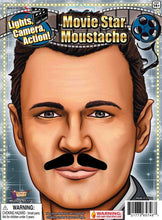 Load image into Gallery viewer, Movie Star Black Costume Moustache