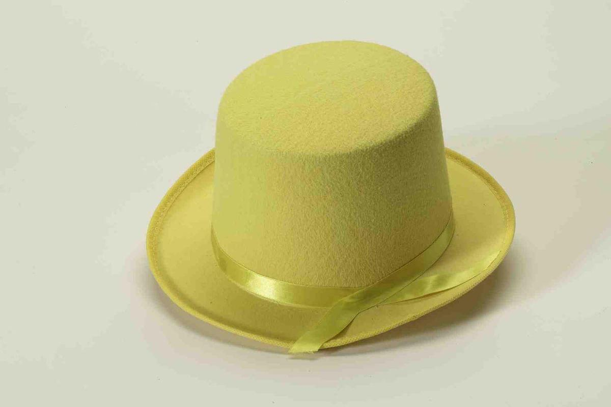 Yellow Felt Adult Costume Top Hat - Toynk Toys 5050b0a1235