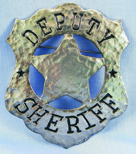 Deputy Sheriff Costume Pin Badge