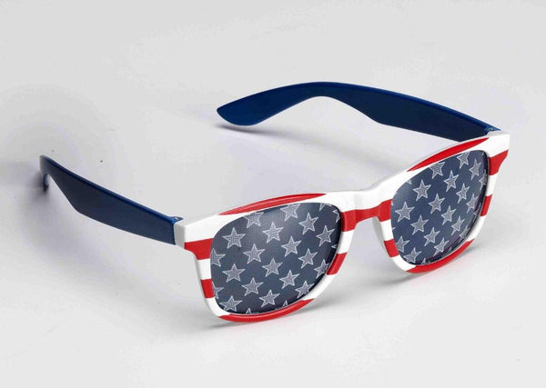 Patriotic Red, White, And Blue Adult Costume Sunglasses