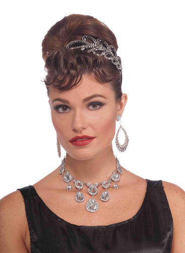 Vintage Hollywood Rhinestone Movie Star Costume Necklace