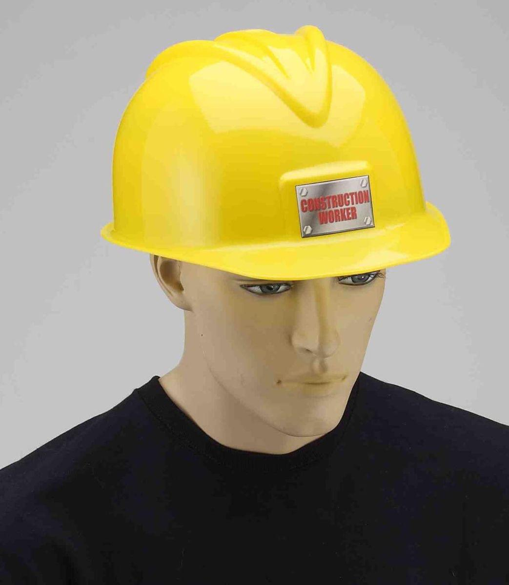 Deluxe Yellow Construction Hat Adult Costume Accessory