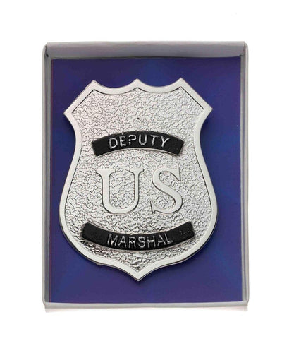 Silver Police Badge Costume Accessory