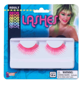 Tubular Neon Purple Costume Eyelashes One Size