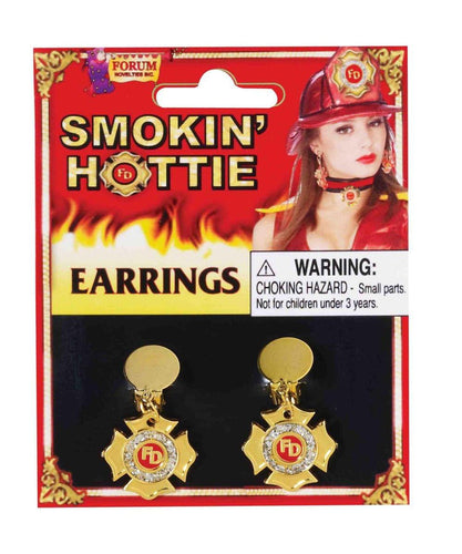Smokin' Hottie Gold Fireman Earrings