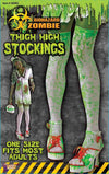 Biohazard Zombie Adult Female Costume Thigh High Stockings
