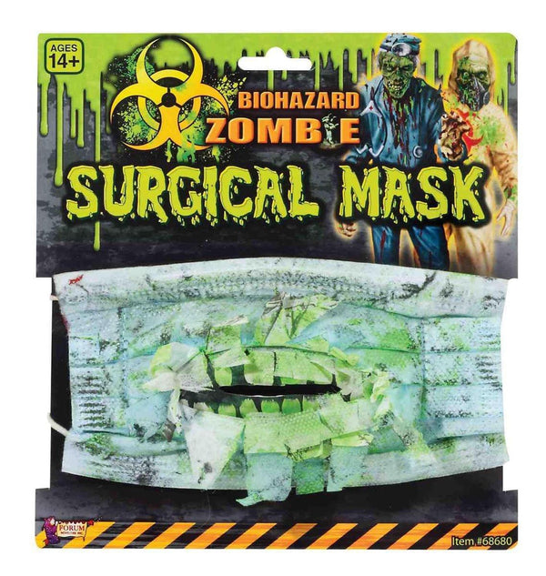 Biohazard Zombie Costume Surgical Mask With Teeth