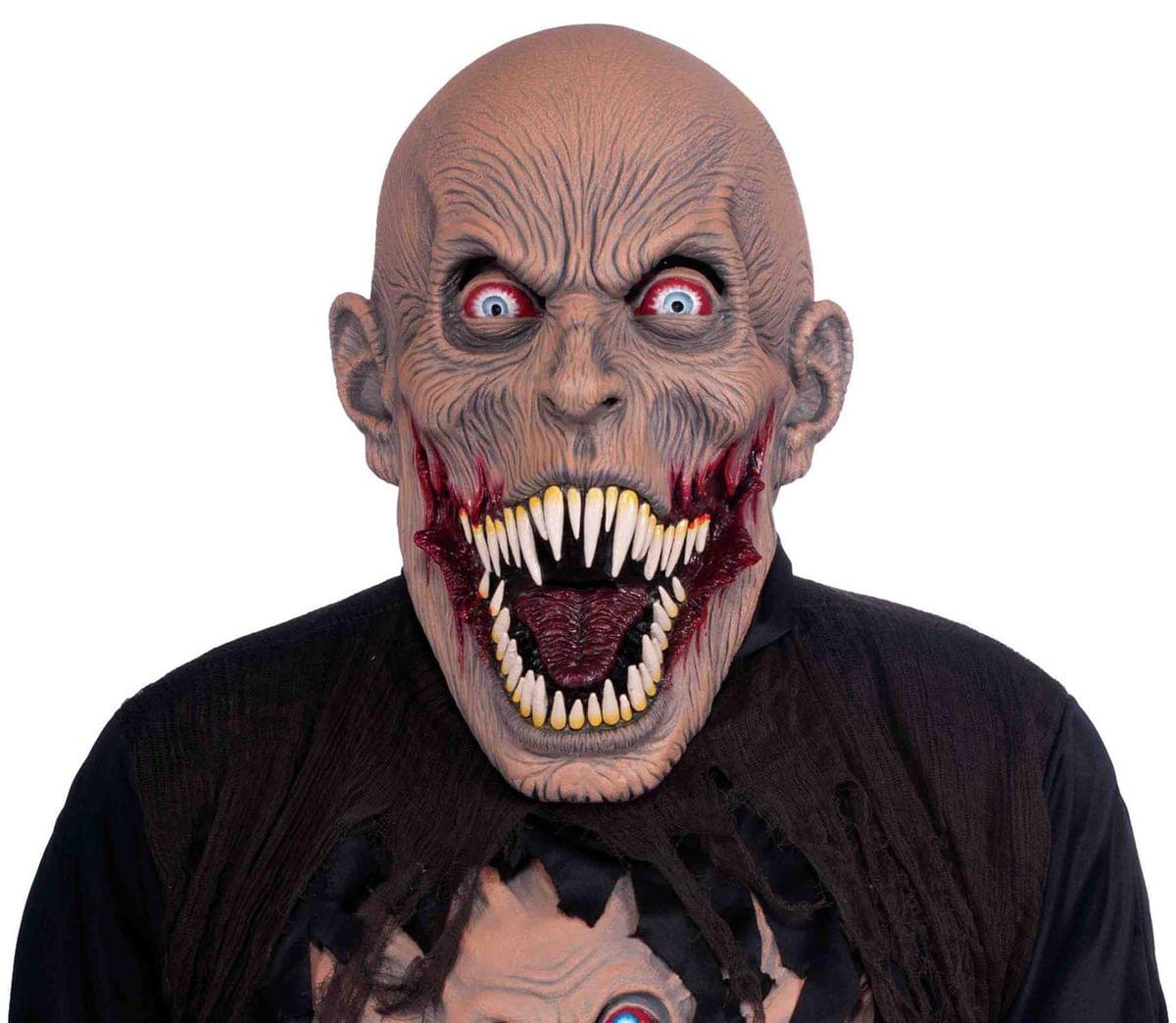 Vicious Mutant Alien Adult Costume Horror Mask One Size Fits Most