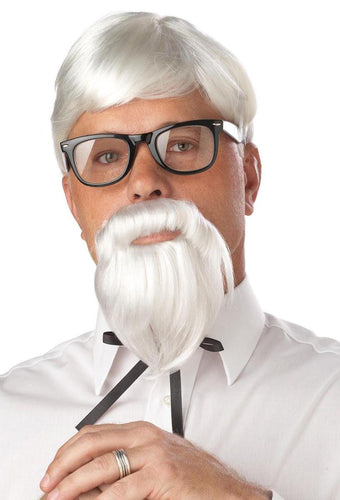 The Colonel Wig & Moustache Costume Accessory Set