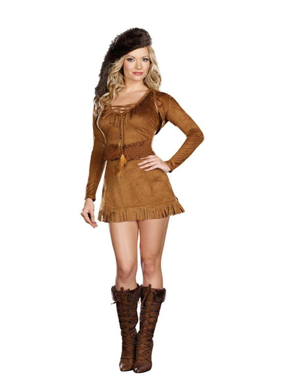Diva Crocket Sexy Pioneer Dress Costume Adult