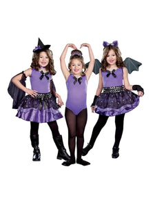 Halloween Cutie 3 In 1 Witch Ballerina Bat Costume Child