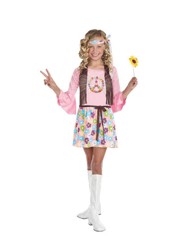 Peace Baby 60's Hippie Dress Costume Child