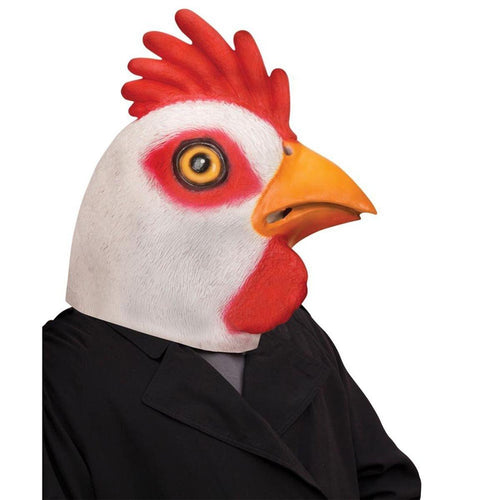 Cocky Chicken Adult Costume Latex Mask