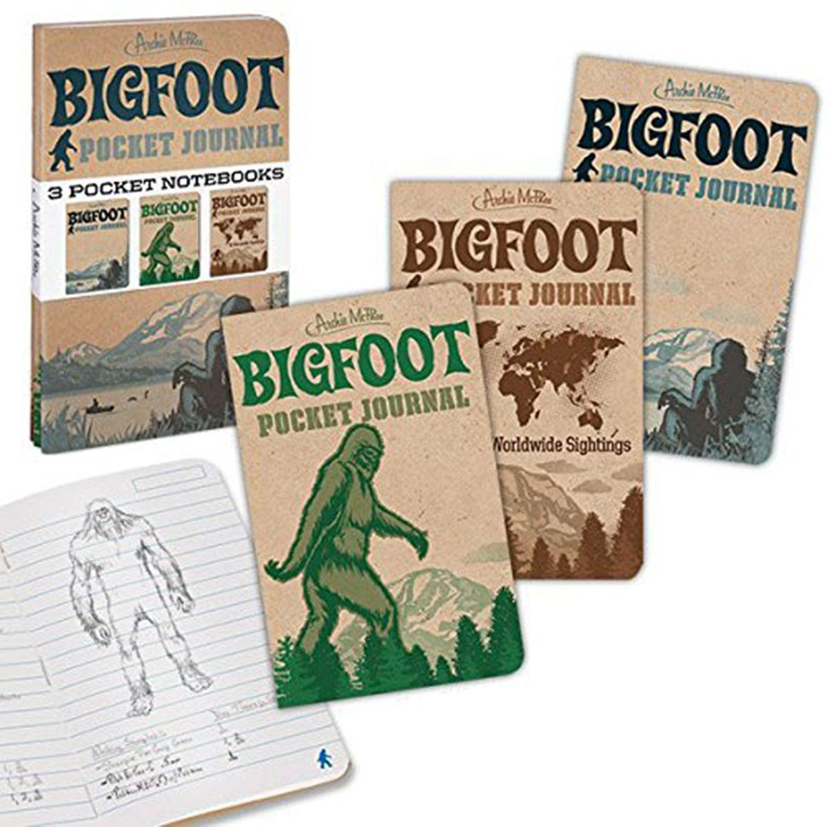Bigfoot Pocket Journals: Set of 3 Notebooks
