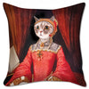 "Renaissance Kitty 18"" X 18"" Pillow Cover"