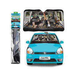"Car Full of Squirrels 50"" x 27-1/2"" Auto Sunshade"