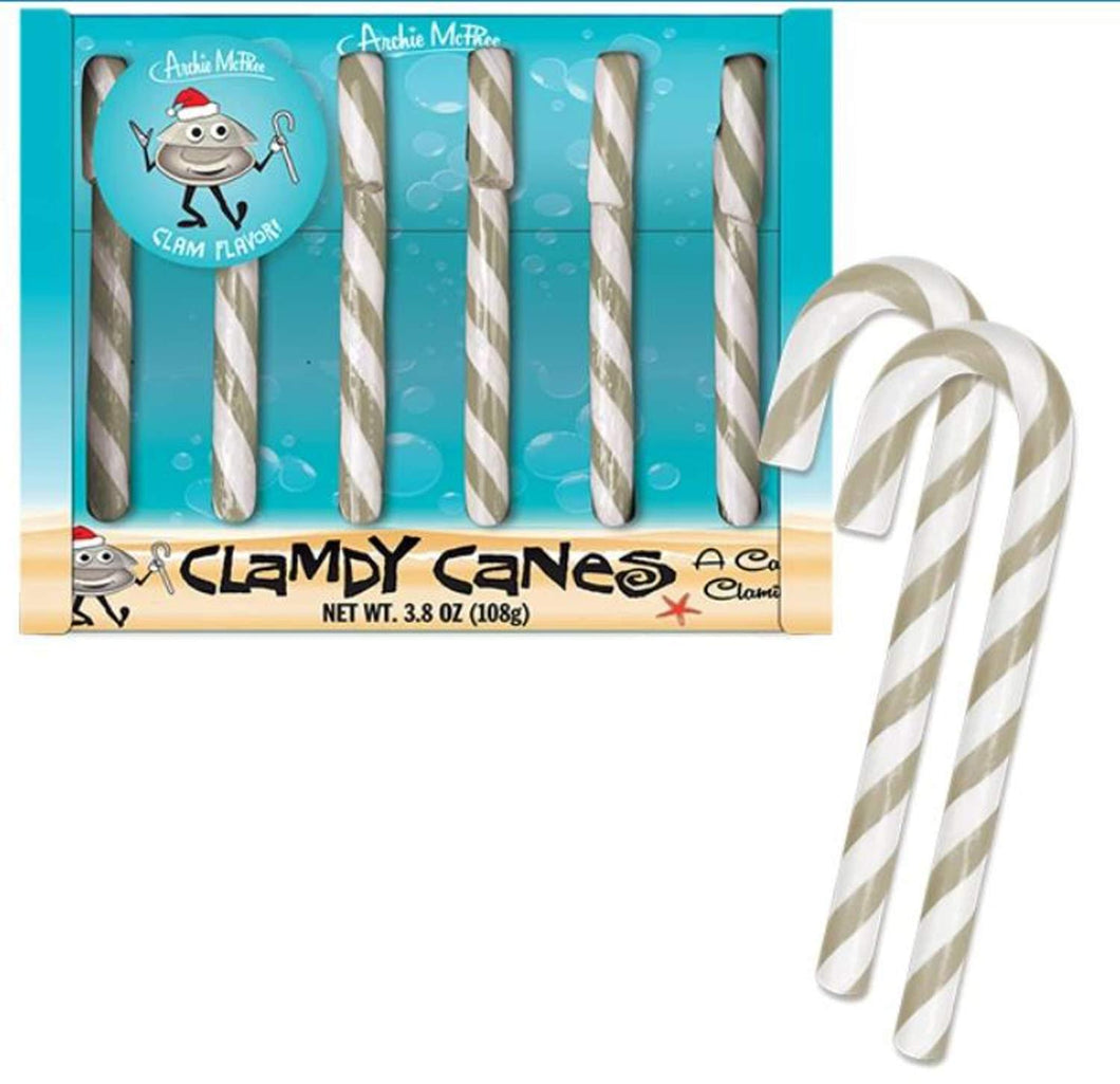 Clam Flavored Candy Canes | Set of 6