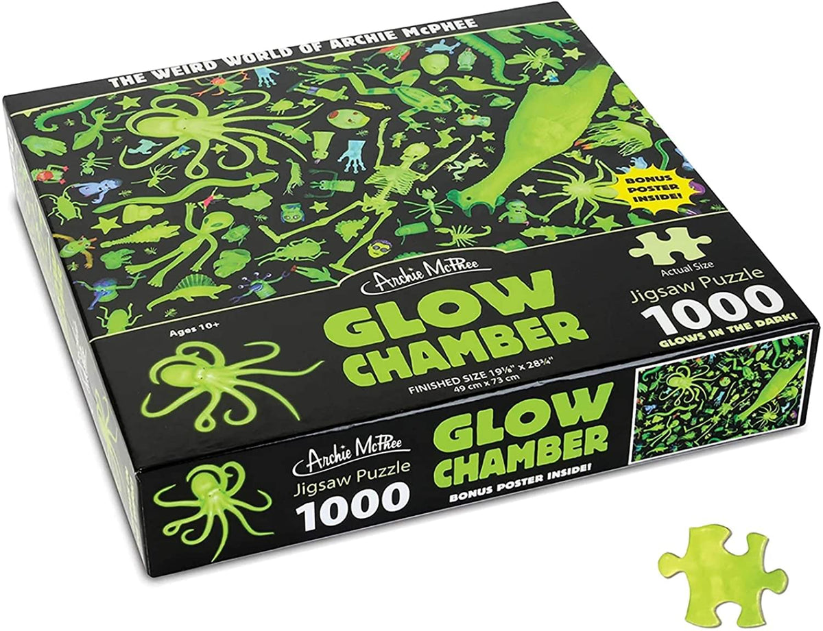 Glow Chamber Glow in The Dark 1000 Piece Jigsaw Puzzle