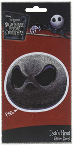 Nightmare Before Christmas Jack Face 4 x 8 Inch Glitter Decal