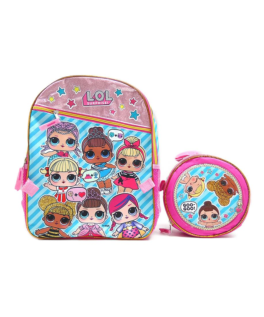 LOL Surprise! Gangs All Here 16-Inch Girl's Backpack w/ Lunch Tote