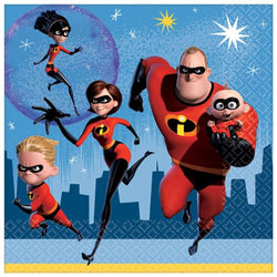 "Incredibles 2 Party Bundle: 32x Napkins, 8x 7"" Plates, 8x 9"" Plates"