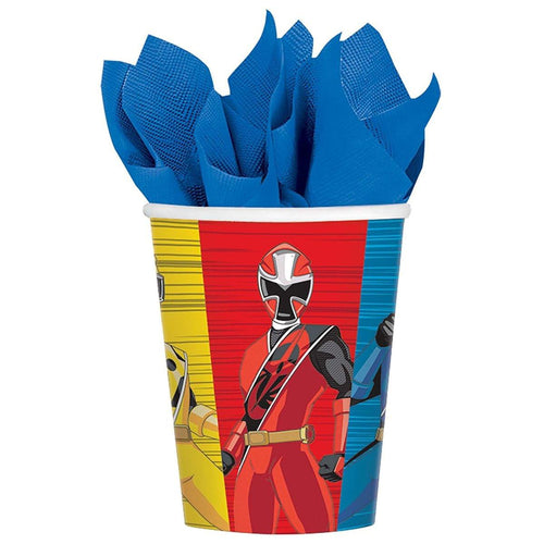 Power Rangers Ninja Steel 9oz Paper Party Cups, 8-Pack