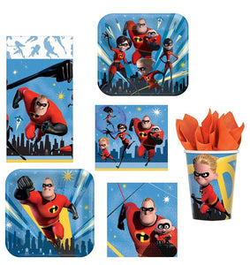 Incredibles 2 Party Bundle: 32x Napkins, 16x 7-9