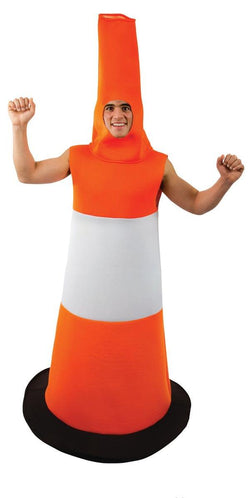 Road Cone Adult Costume - One Size