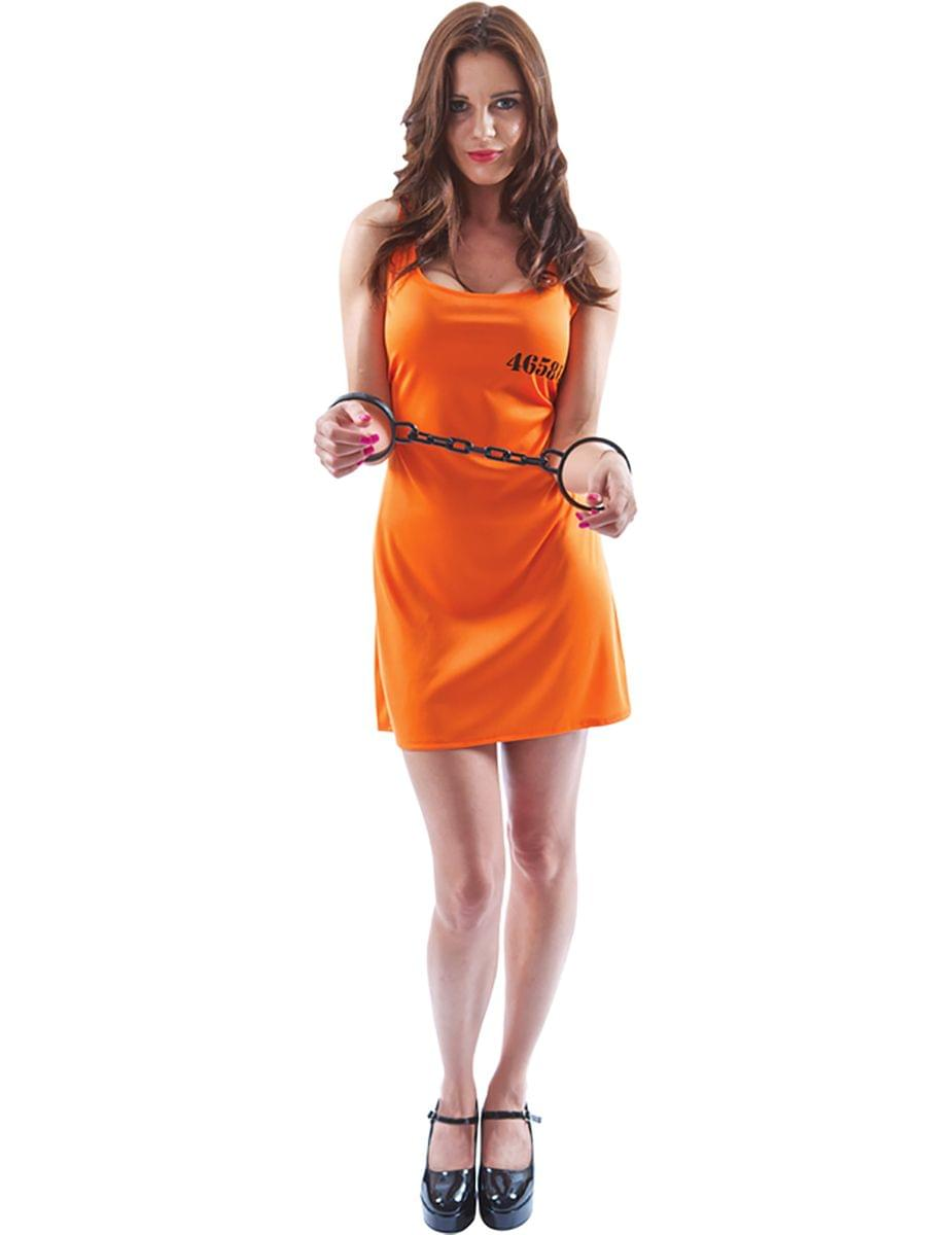 Orange Convict Dress Adult Costume