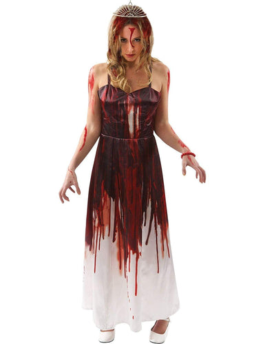 Carrie Bloody Prom Queen Adult Costume Dress