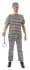 Classic Prisoner B&W Striped Adult Costume