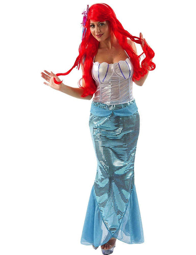 Little Mermaid Adult Fancy Costume Dress